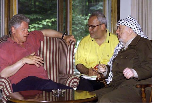مباحثات ياسر عرفات وإيهود باراك برعاية بيل كلنتون