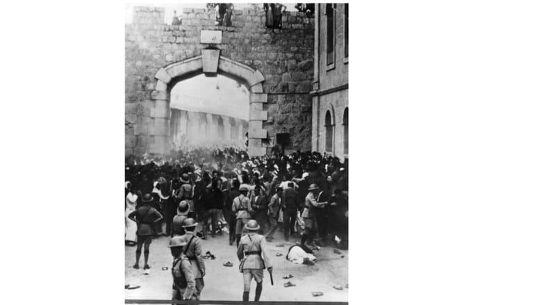 أحدث شغب عند بوابة يافا في القدس خلال الانتداب البريطاني على فلسطين