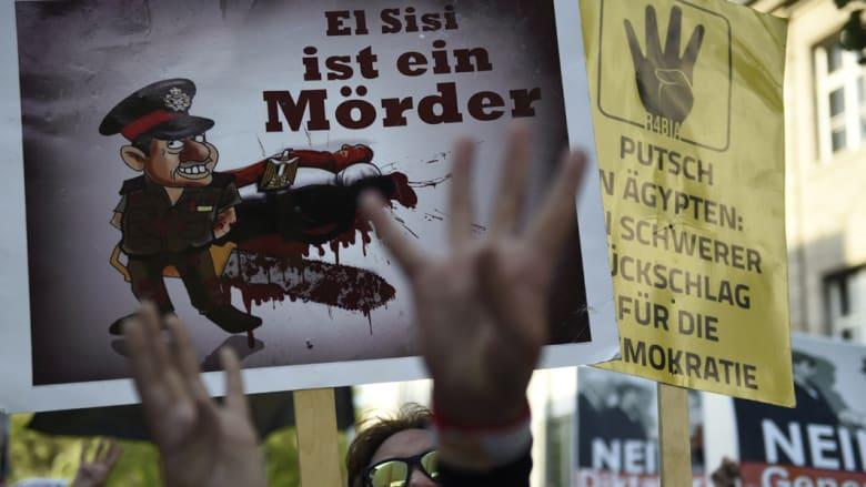 بالصور.. المسيرات المؤيدة والمعارضة للرئيس المصري السيسي في ألمانيا