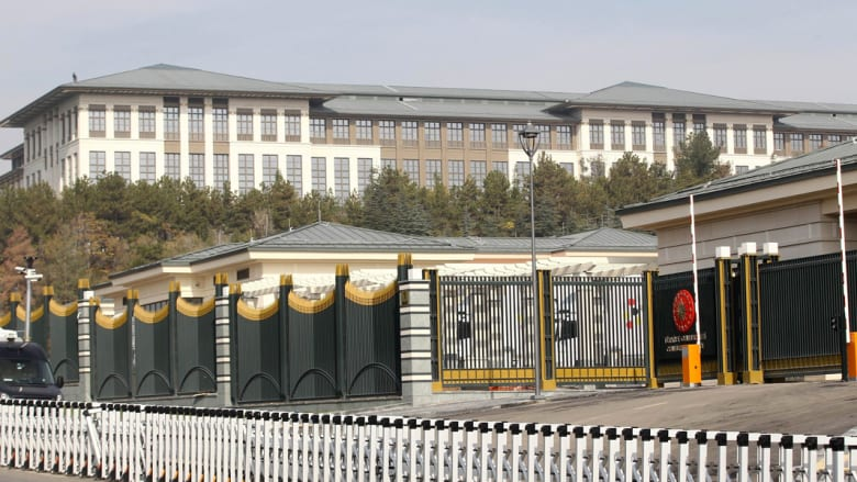 صورة تظهر قصر الرئاسة (القصر الأبيض) في ضواحي أنقرة في 29 أكتوبر 2014.