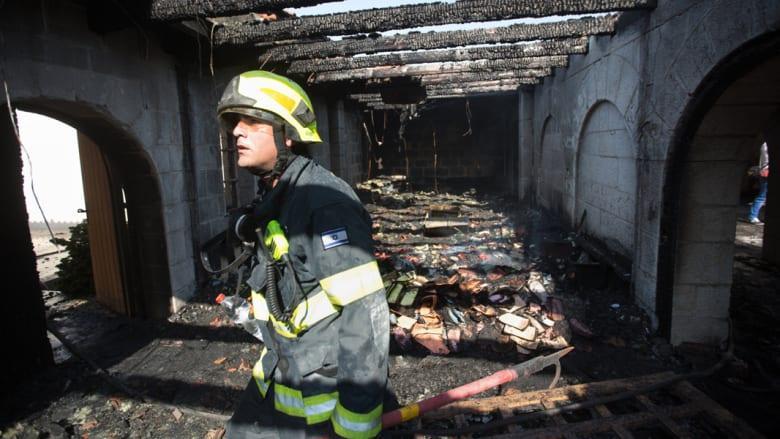 اضرام النار في كنيسة الطابغة شمال بحيرة طبريا