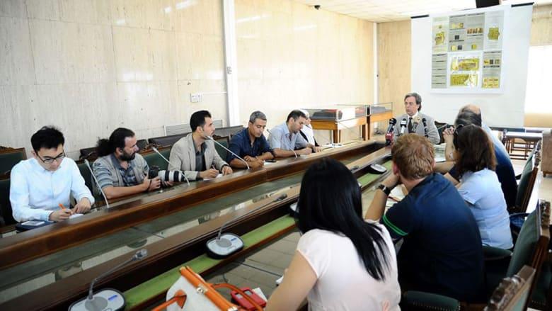 المؤتمر الصحفي عقد في مقر المصرف بدمشق