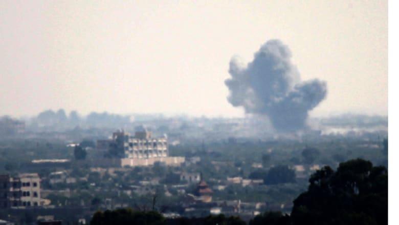 سيناء كما بدت من غزة