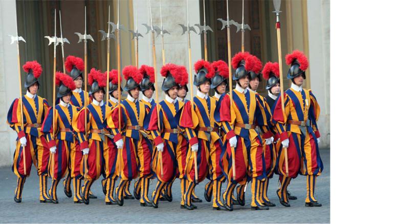 حرس الشرف - الفاتيكان