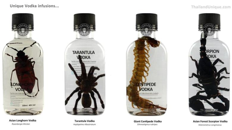 فودكا بالصراصير والعقارب ودود مسلوق.. شركات تقوم على تناول الحشرات