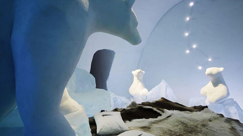 """""""فندق الجليد"""" حيث تقشعر الأبدان تحت وطأة الصقيع والحرارة ما تحت الصفر"""