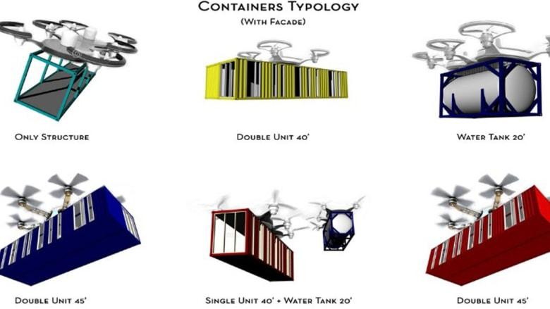 لمحة من المستقبل.. ناطحات سحاب من حاويات الشحن