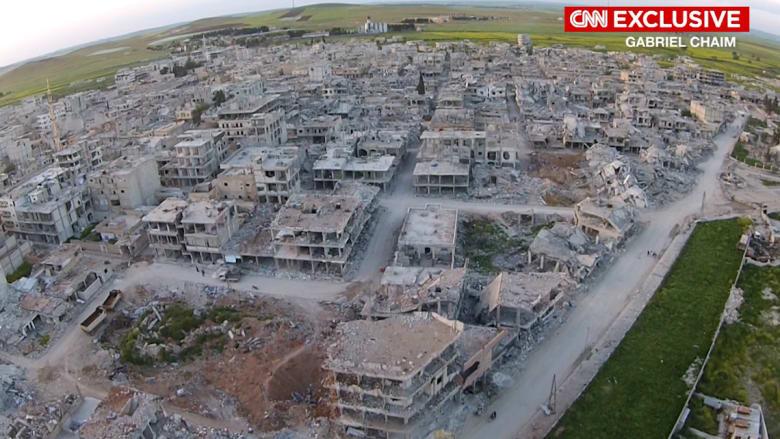 مشاهد الدمار في كوباني من السماء.. لهذا السبب هربت عائلة آلان الكردي