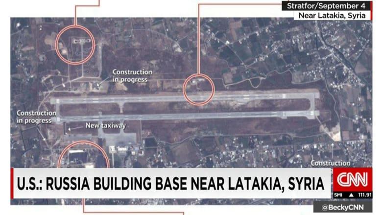بالصور.. الأقمار الصناعية ترصد الإنشاءات الجارية لبناء قاعدة عسكرية روسية باللاذقية في سوريا