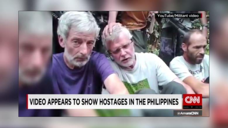 نشر فيديو لأربع رهائن اختطفوا في الفلبين الشهر الماضي