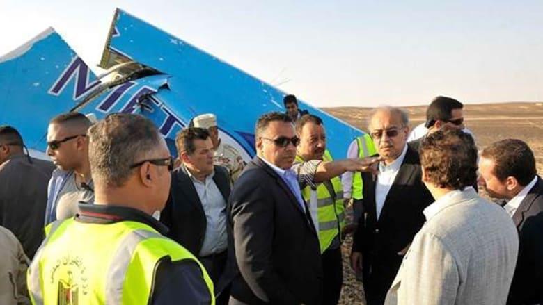 بالصور.. حطام الطائرة الروسية في سيناء