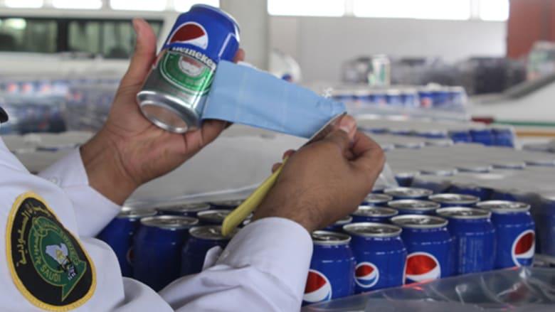 """السعودية: إحباط تهريب 48 ألف علبة """"جعة"""" مغلفة بملصقات لمشروب بيبسي"""