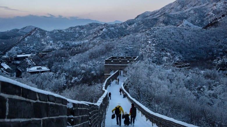 سور الصين العظيم..يُغطى بالقطن الأبيض