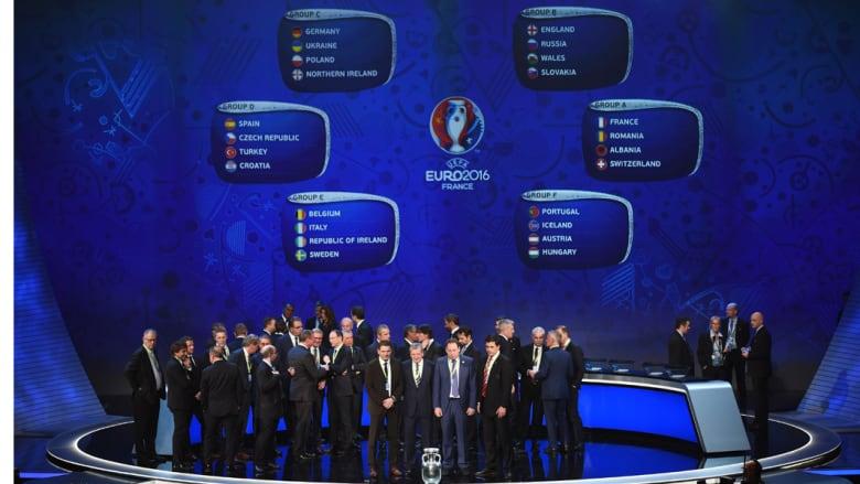 """قرعة تاريخية لـ""""يورو 2016"""" في باريس بمشاركة 24 منتخباً لأول مرة بغياب بلاتيني"""
