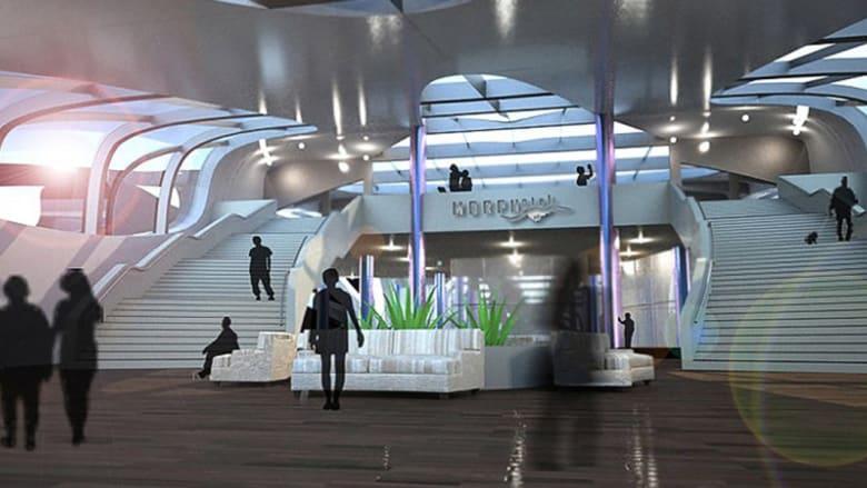 فندق عائم يشبه العمود الفقري..ويتماهى مع محطة حرب النجوم وخيال المستقبل