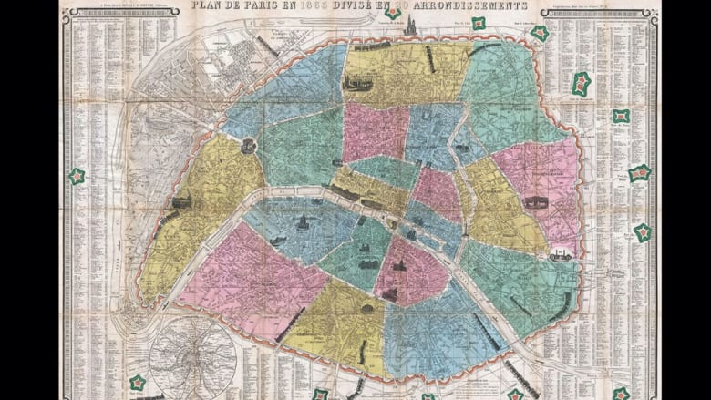 بالصور.. لوحات فنية تعيد تعريف عالم الخرائط التقليدي