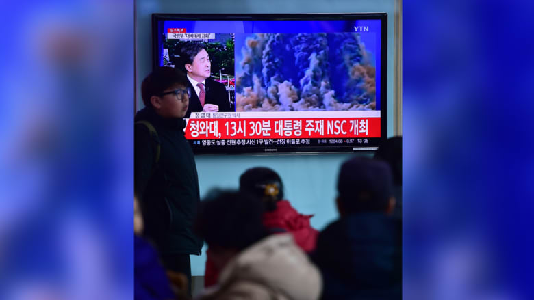 """كوريا الجنوبية أدانت اختبار القنبلة الهيدروجينية من قبل كوريا الشمالية وتعهدت باتخاذ """"جميع التدابير اللازمة"""" لمعاقبة جارتها."""