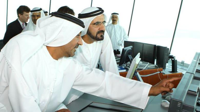 الشيخ محمد بن راشد في يوم افتتاح مطار آل مكتوم الدولي