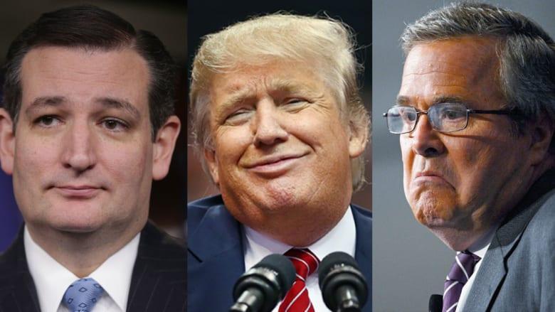 """أمريكا: ترامب يسخر من """"رجولة"""" كروز """"وقوة"""" بوش.. والمكسيك ترفض اقتراحه بشأن بناء جدار بين البلدين"""