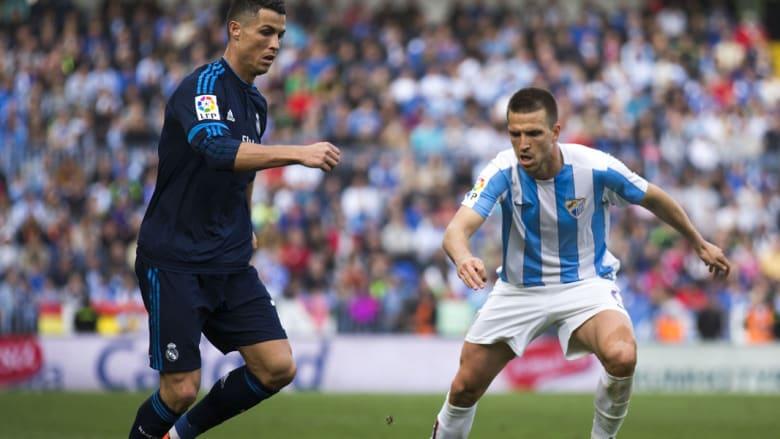 كريستيانو رونالدو يعمق جراح ريال مدريد ويفرض عليهم التعادل أمام ملقا