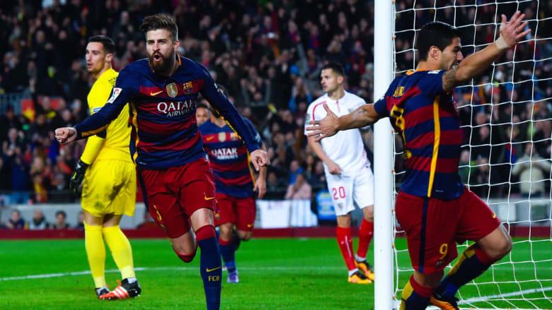 بالصور: برشلونة يغرد وحيدا في الصدارة في ليلة الانتقام من إشبيلية