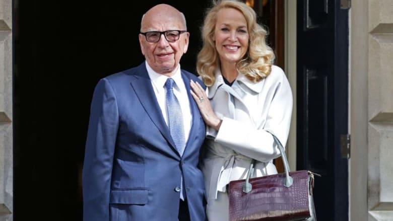 """روبرت مردوخ يتزوج عارضة أزياء أمريكية: """"أنا أسعد إنسان في العالم"""""""