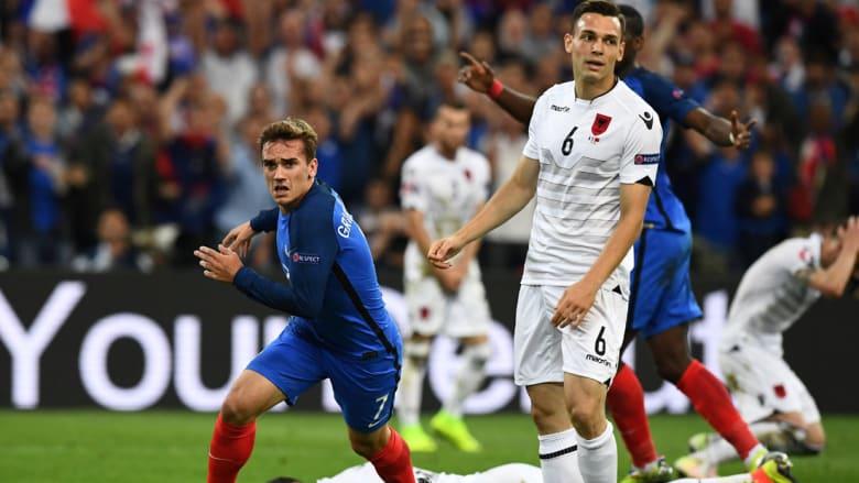 فرنسا تفوز على ألبانيا المتألقة وتتأهل للدور الـ16