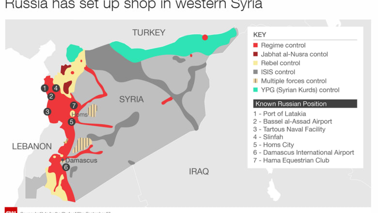 Russia has set up shop in western Syria