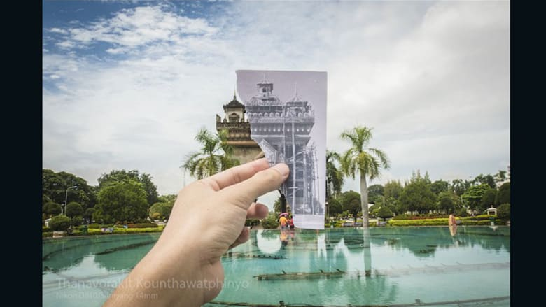لقطات تجمع الماضي والحاضر في لاوس