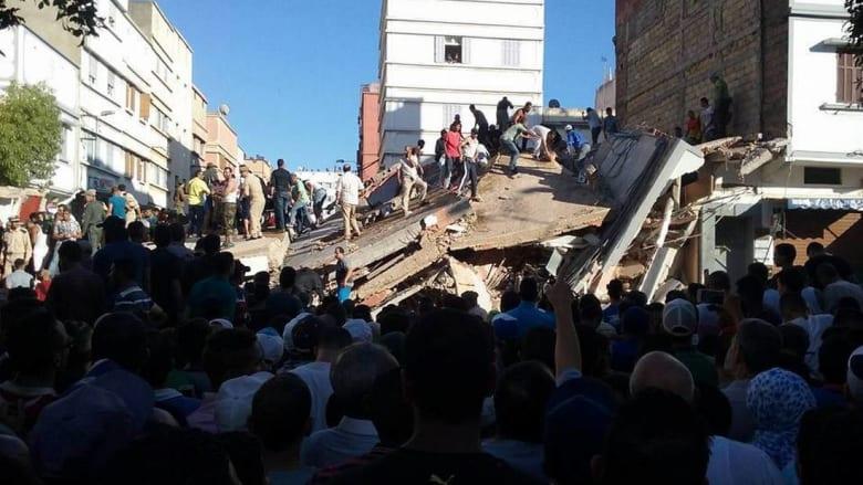 انهيار عمارة سكنية في الدار البيضاء يخلّف عدة ضحايا