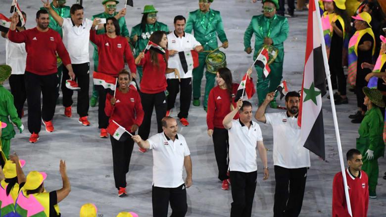 الأعلام العربية تزين افتتاح الأولمبياد
