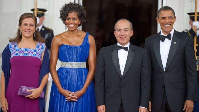ميشيل أوباما تخطف الأنظار في عشائها الرئاسي الأخير