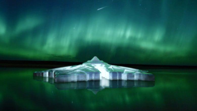 فندق بشكل ندفة ثلج عملاقة في المياه الجليدية بالنرويج