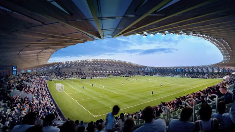 استاد كرة قدم من الخشب كلياً في النادي الأكثر استدامة وصداقة للبيئة في العالم