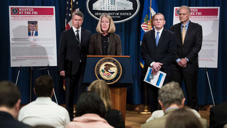 """أمريكا تتهم ضابطين روسيين بالتورط في قرصنة 500 مليون حساب على """"ياهو"""""""