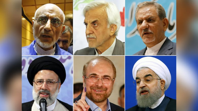 تعرّف على المرشحين الستة لانتخابات الرئاسة في إيران