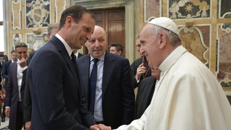 البابا فرنسيس يستقبل يوفنتوس ولاتسيو قبل نهائي كأس إيطاليا