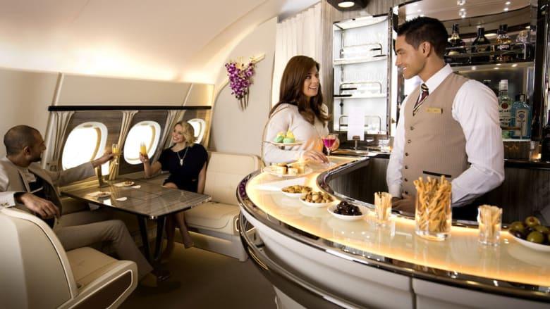 شاهد صالون A380 من طيران الإمارات