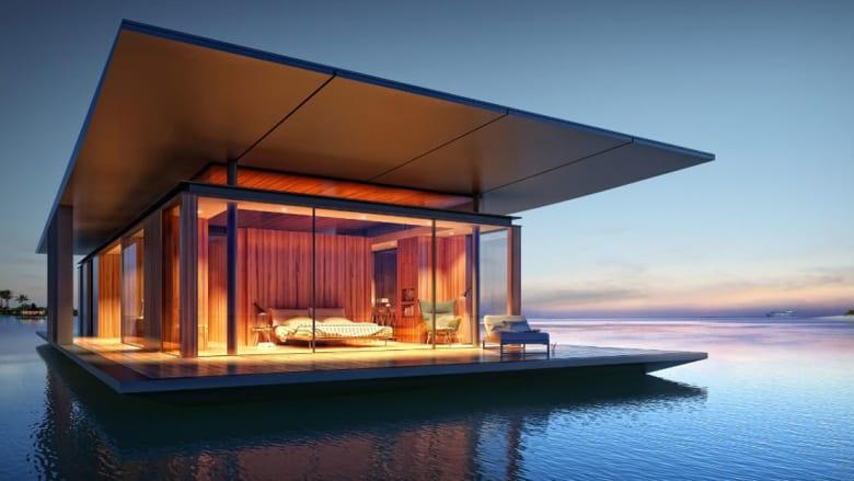 أجملها في دبي.. المنازل العائمة تجتاح بحار العالم