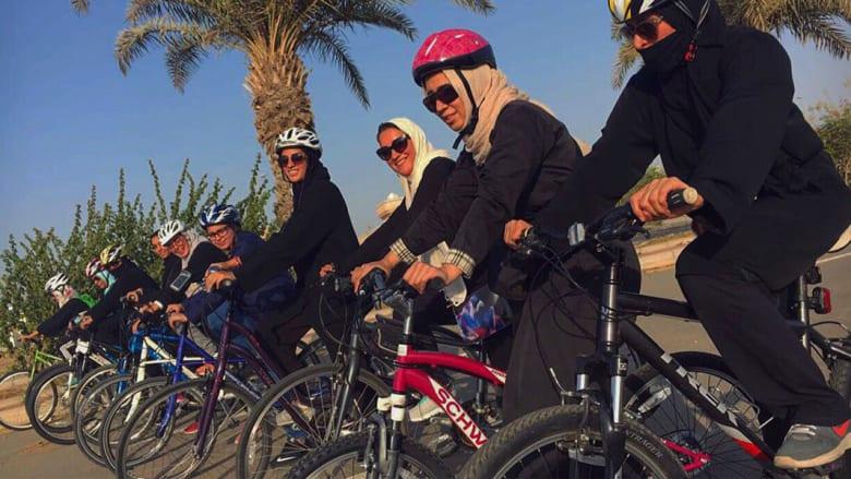 """""""بسكليتة"""" فريق نسائي لقيادة الدراجة في السعودية"""
