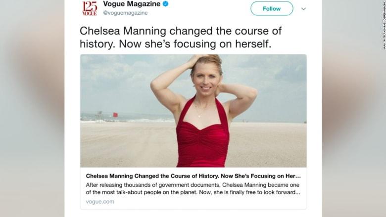 """جندية أمريكية سابقة متحولة جنسياً تظهر على غلاف مجلة """"فوغ"""" للموضة"""