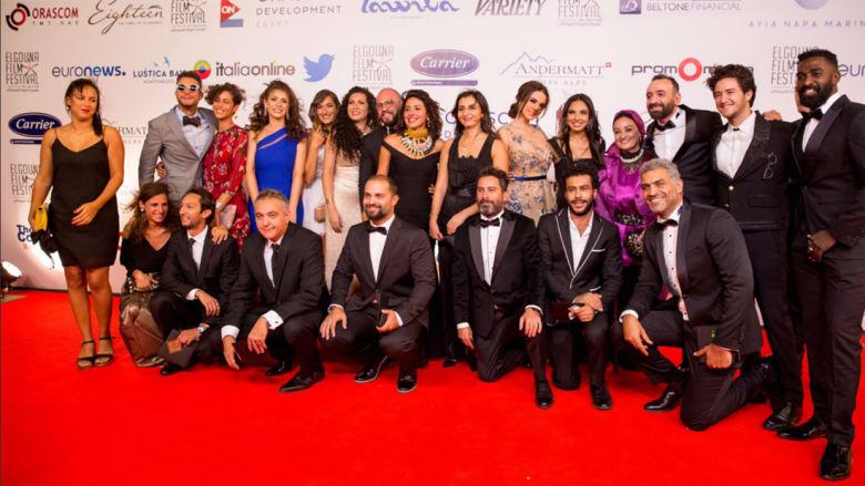 مشاهير العالم العربي يتألقون على السجادة الحمراء في الدورة الأولى من مهرجان الجونة السينمائي