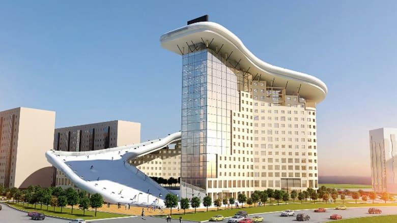 تخيّل منحدر تزلج على سطح منزلك... في كازاخستان فقط!