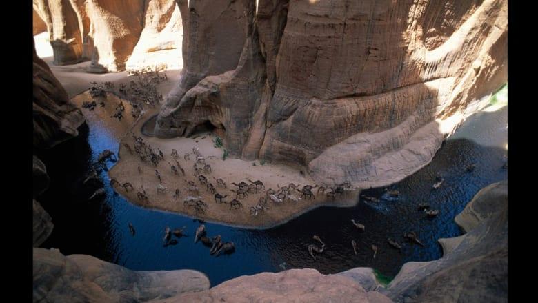 مساحات شاسعة من الجمال..هكذا تلمع رمال الصحراء من السماء