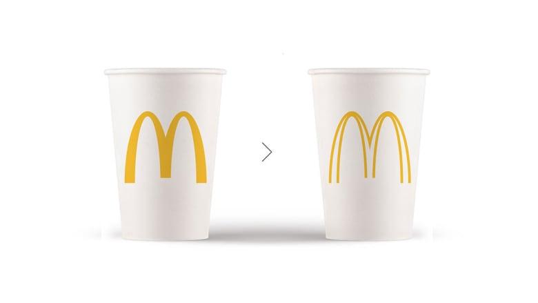 ما الفرق بين شعاري ماكدونالدز في الصورة؟