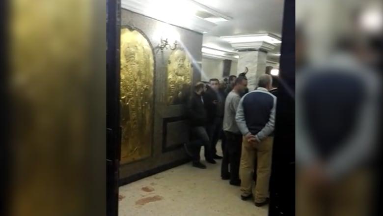 مشاهد من داخل كنيسة مارمينا القبطية بعد الهجوم