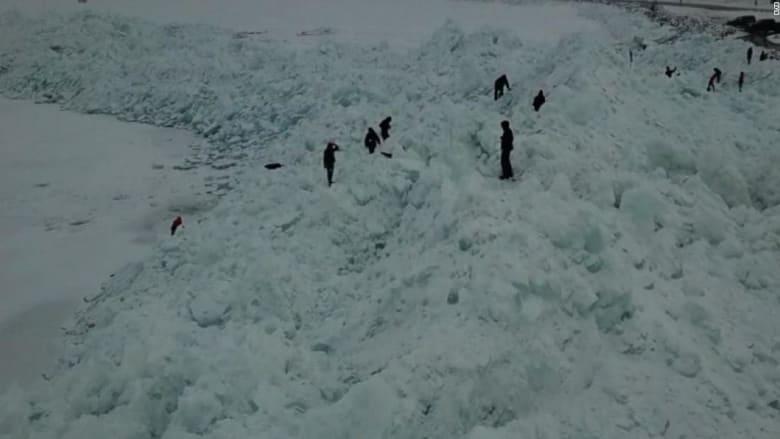 شاهد.. الجليد يحول أوهايو إلى منطقة قطبية