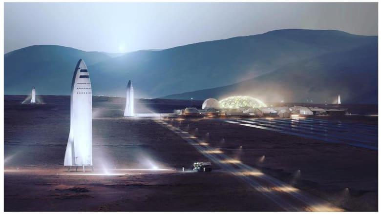 """""""سبيس إكس"""" تبدأ خطتها بتصميم صاروخ """"BFR"""" المخصص للمريخ"""