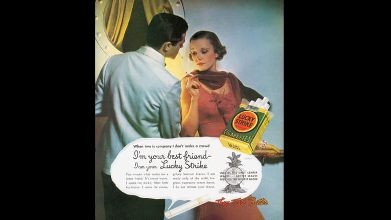 اكتشف العالم الغريب لإعلانات السجائر والمشروبات الروحية