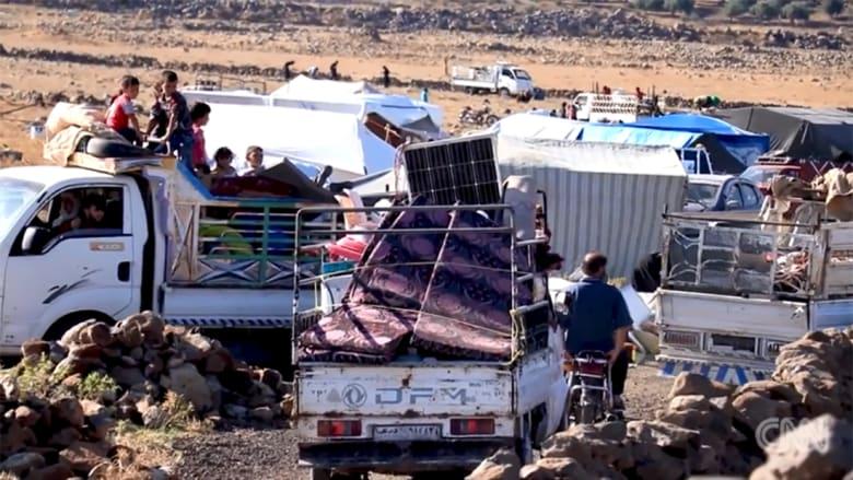 حقوق الإنسان لـCNN: عدد نازحي جنوب غرب سوريا فاق توقعاتنا ووصل لـ270 ألفا